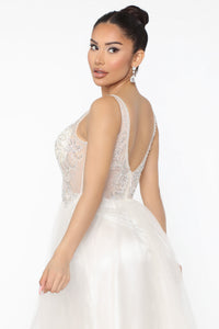 Ballroom Trance Embellished Maxi Gown - White Angle 4