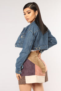 Lets Get To It Denim Jacket - Medium Blue Wash