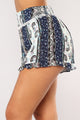 Spring Up Smocked Shorts - Blue Floral