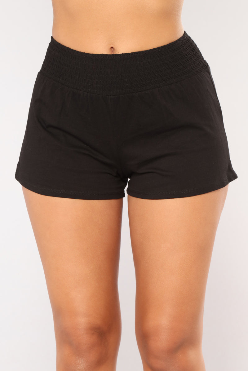 Simple Kind Of Life Smocked Shorts - Black