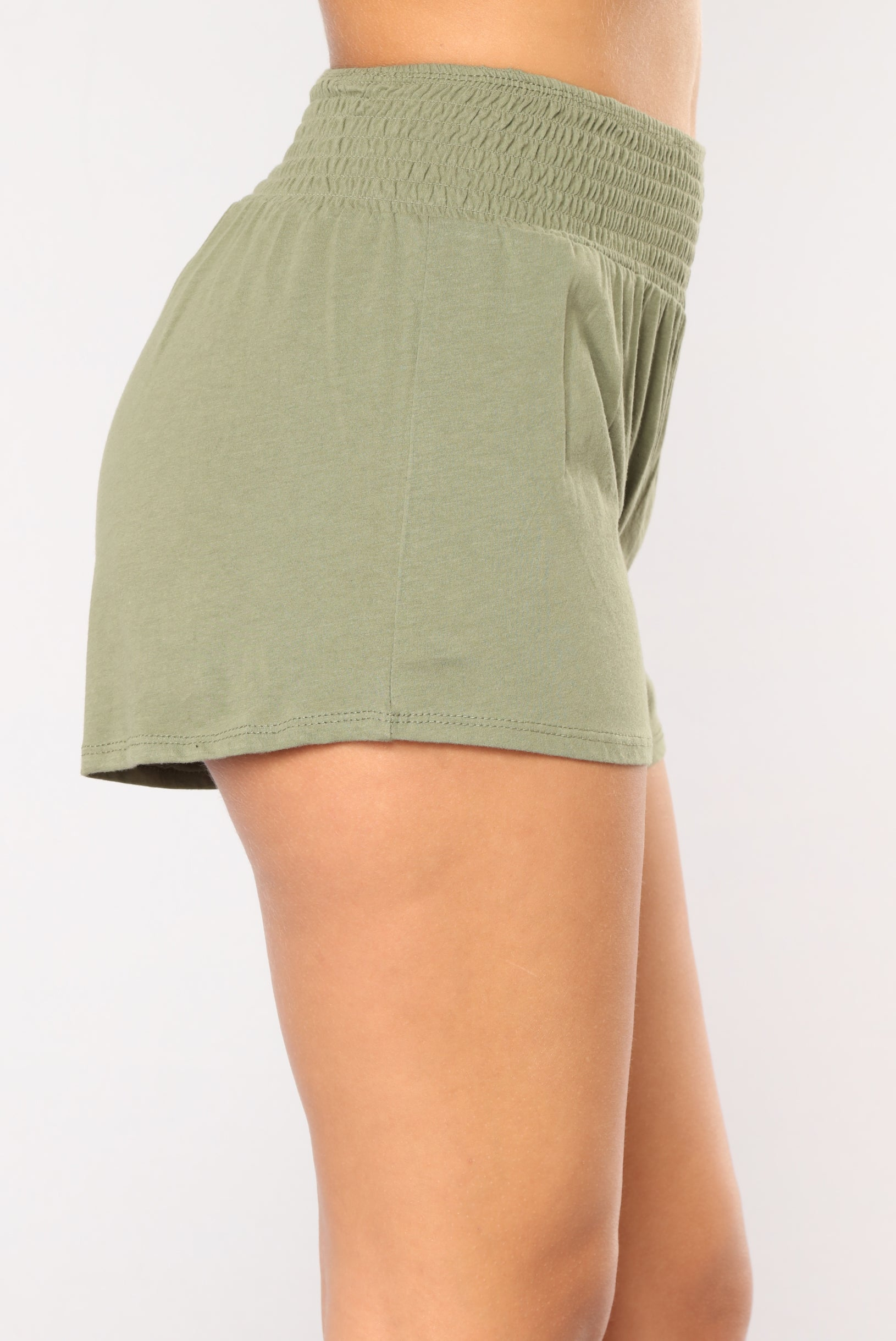 4b341e2d9f9 Simple Kind Of Life Smocked Shorts - Olive