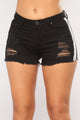 Have Mercy Striped Shorts - Black/White