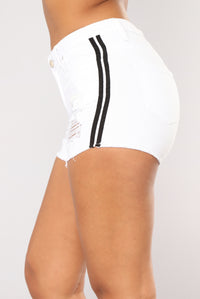 Have Mercy Striped Shorts - White/Black