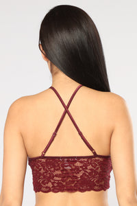 Aurora Lace Bralette - Red Brown