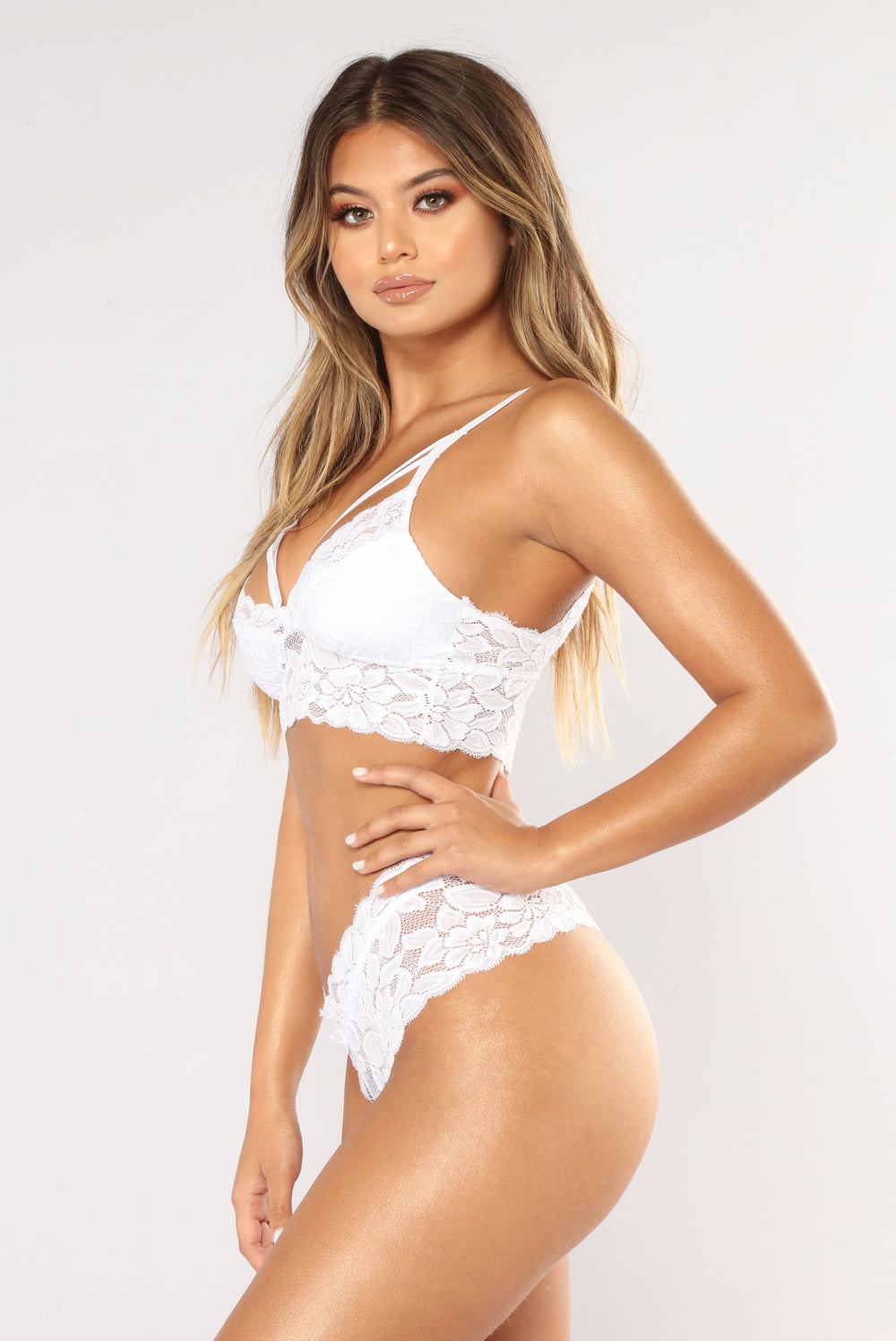 Nightly Craving Bra And Panty Set - White