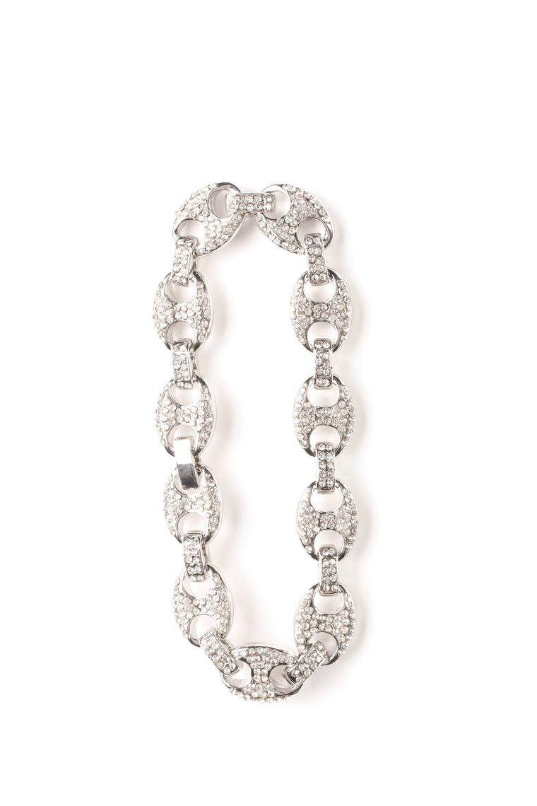 Ice Box Chain Link Bracelet - Silver