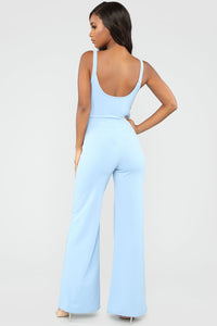 Thinking Of You Jumpsuit - Light Blue