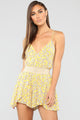 Blossoming Beauty Floral Romper - Yellow