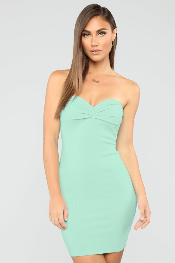 19fb43e8e88 Believe In You Ribbed Mini Dress - Mint