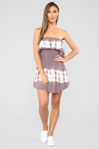 Needing You Tie Dye Romper - Plum Angle 2