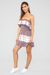 Needing You Tie Dye Romper - Plum Angle 3
