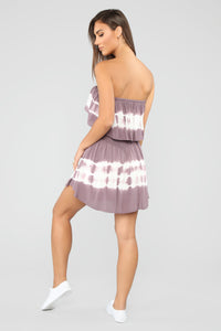 Needing You Tie Dye Romper - Plum Angle 4