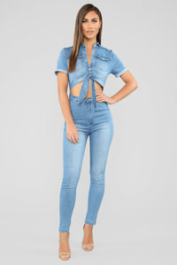 Juniper Denim Jumpsuit - Medium Wash