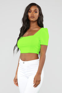Favorite Memory Crop Top - Neon Lime