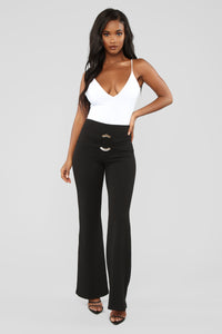 Eat Your Heart Out Flare Pants - Black
