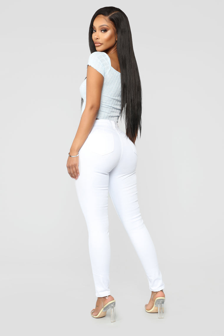 Believe In Me High Rise Jeans - White