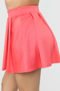 Let's Play Tennis Skirt - Coral