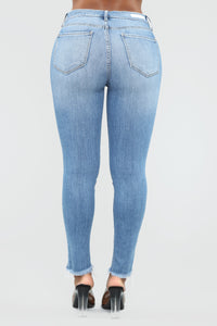 Still The One High Rise Skinny Jeans - Light Blue Wash Angle 6