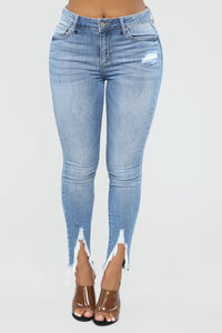 Still The One High Rise Skinny Jeans - Light Blue Wash Angle 1