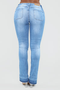 Dreaming About You Flare Jeans - Light Blue Wash