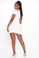 Good Endings Distressed Mini Dress - Off White