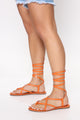 Missed Your Call Flat Sandals - Orange
