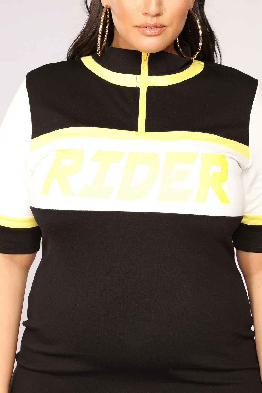 Rider Colorblock Dress - Black/Yellow