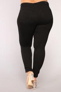 Keep It Simple Skinny Jeans - Black