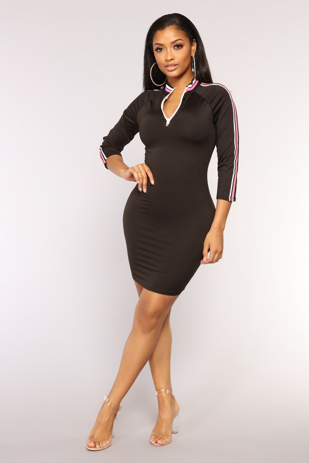 High Speed Dress - Black/Pink