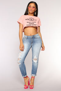 Women Of The World Crop Top - Mauve