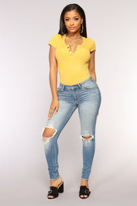 In Your Arms Bodysuit - Mustard