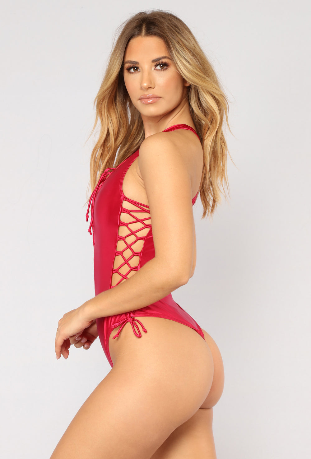 Tiger Blossom Swimsuit - Red