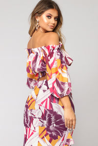 Stefania Off Shoulder Top - Purple
