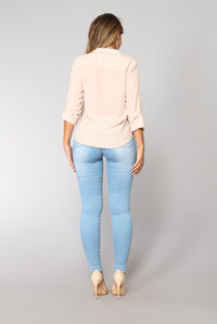 Light Of My Life Skinny Jeans - Light Blue Wash