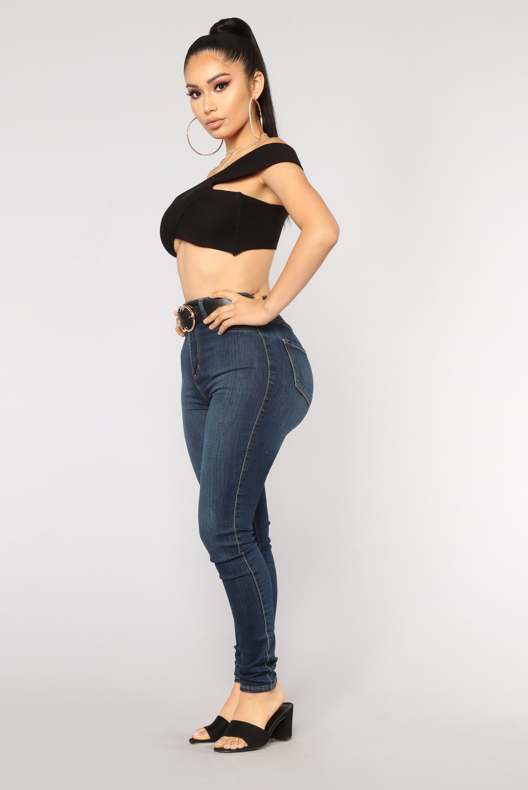 9cff1984bd Amani Off Shoulder Crop Top - Black