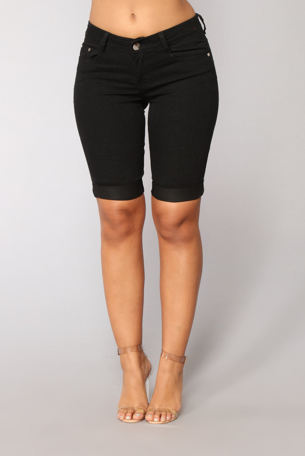 Rosey Denim Bermuda Shorts - Black