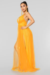 On The Runway Maxi Dress - Yellow