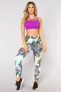 Vacay Body Performance Legging - Green Multi