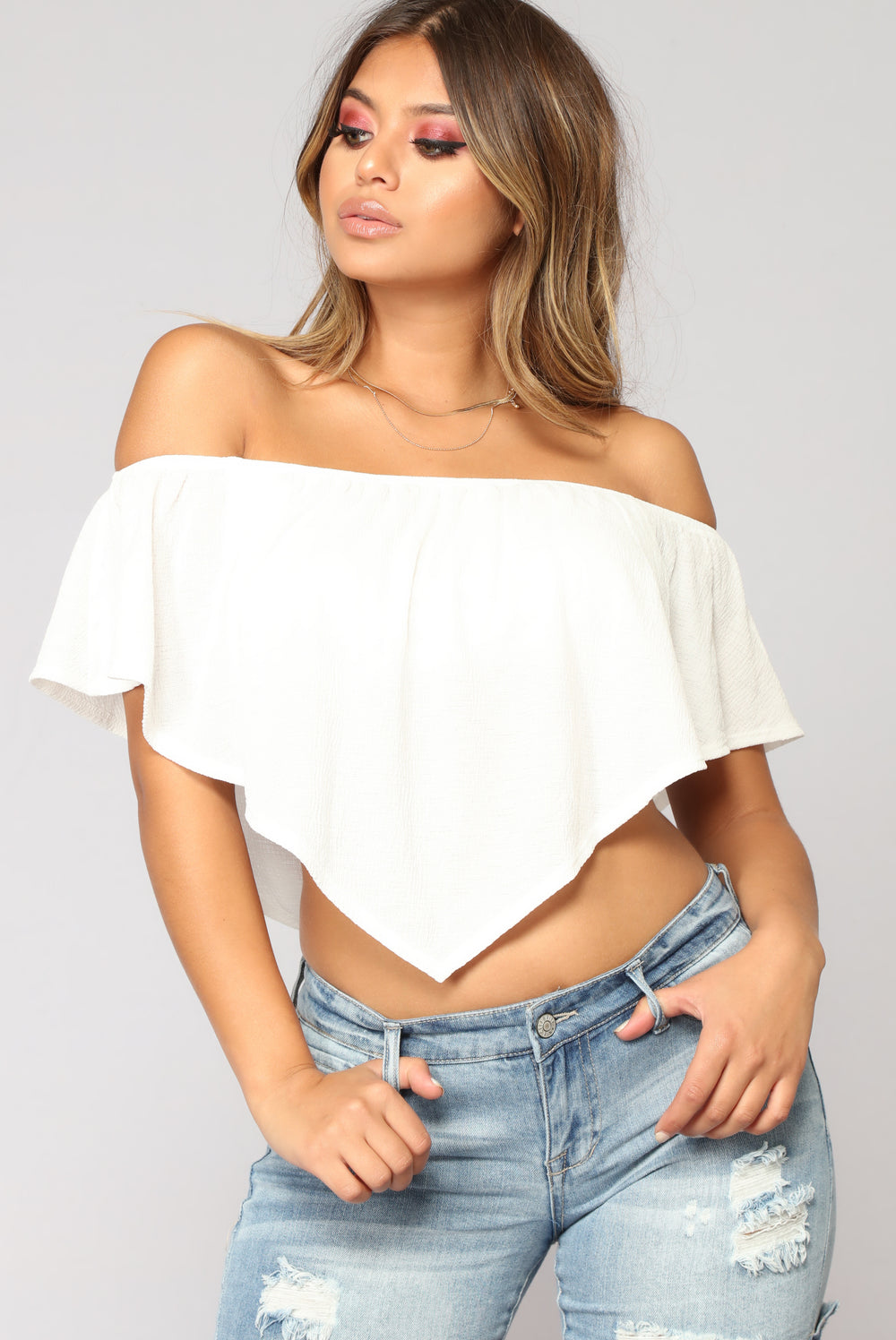 Hard To Resist Top - Ivory