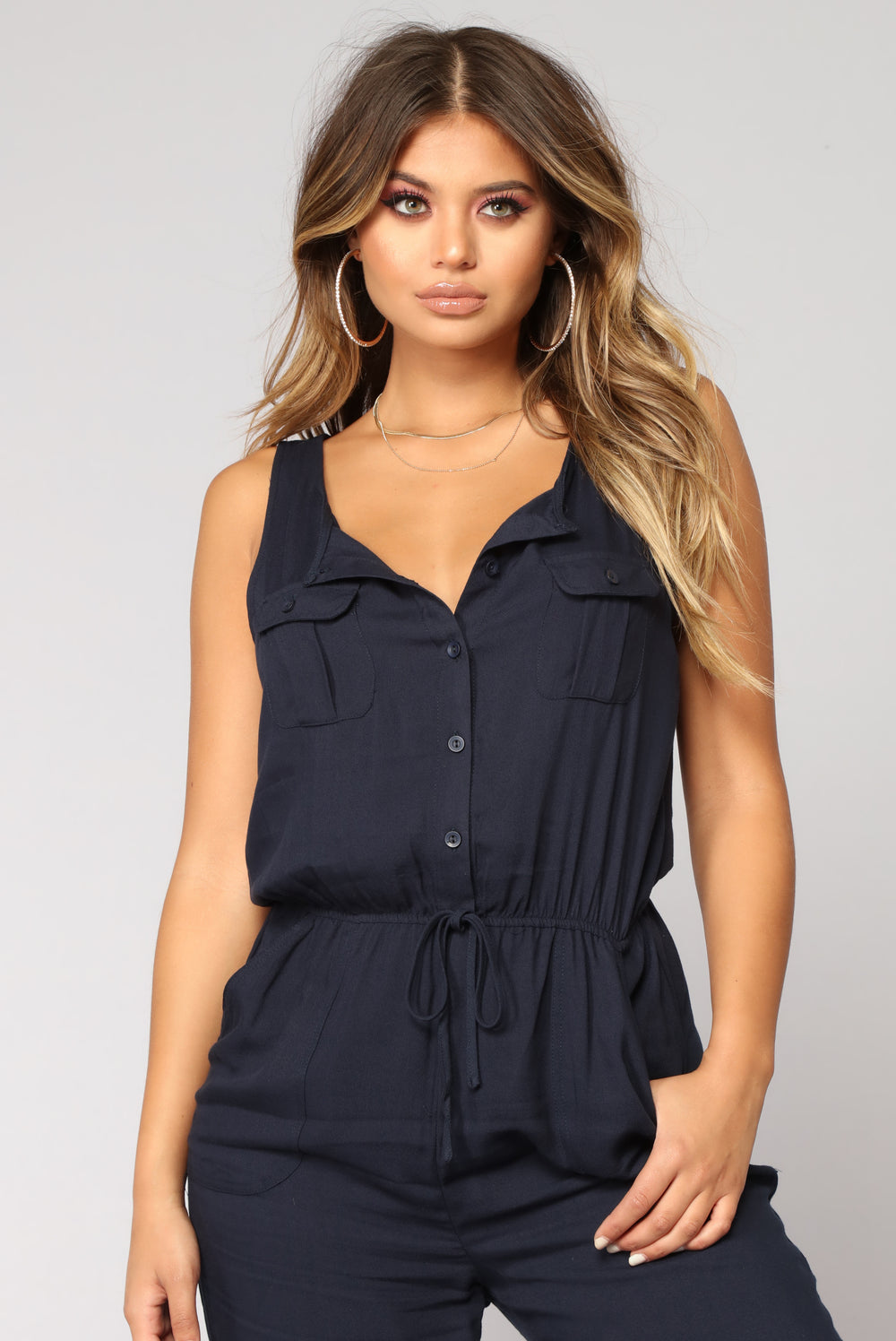 Rivalry Utility Jumpsuit - Navy