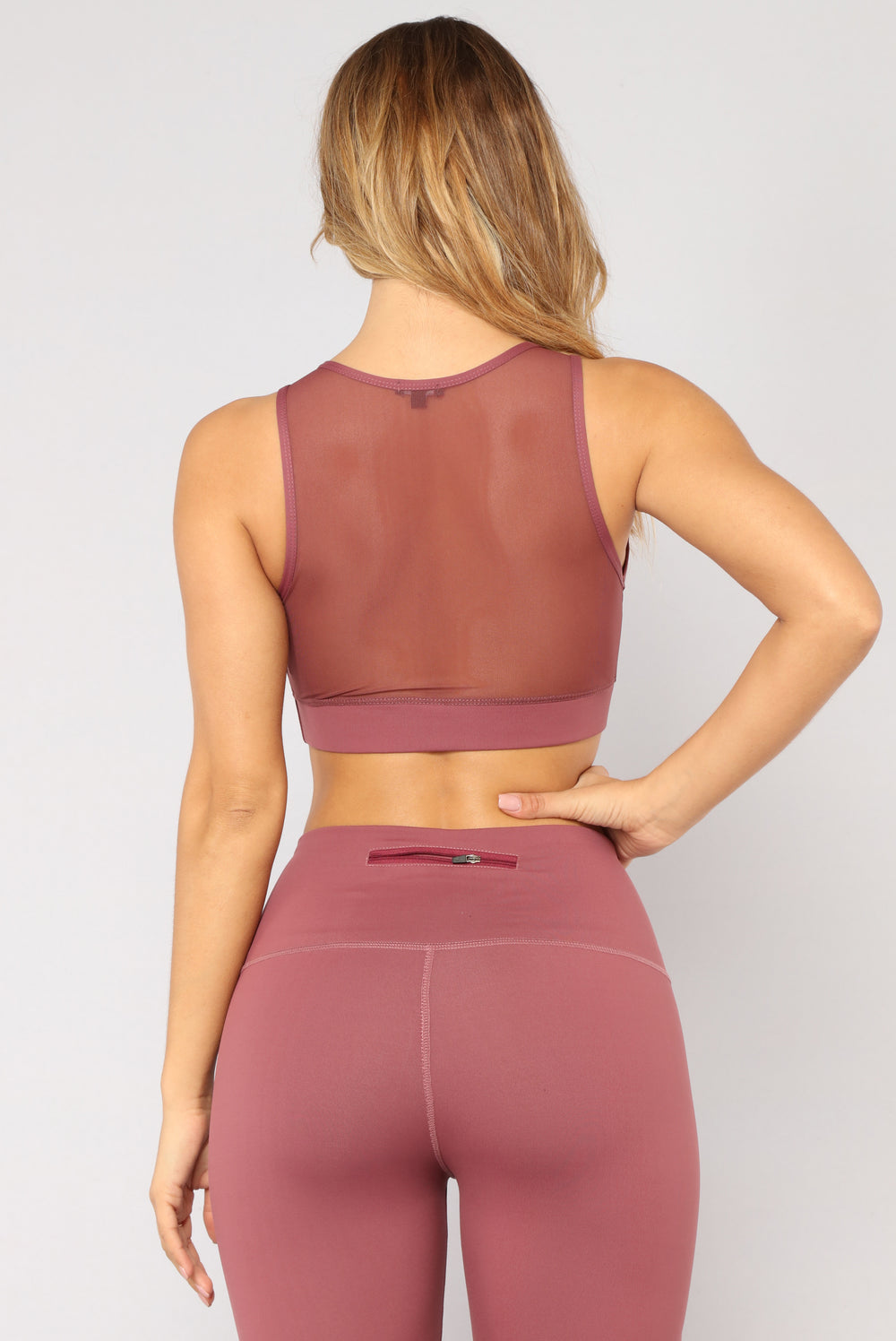 Track Record Performance Sports Bra - Mauve