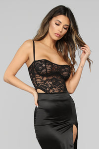 Not Over You Bodysuit - Black