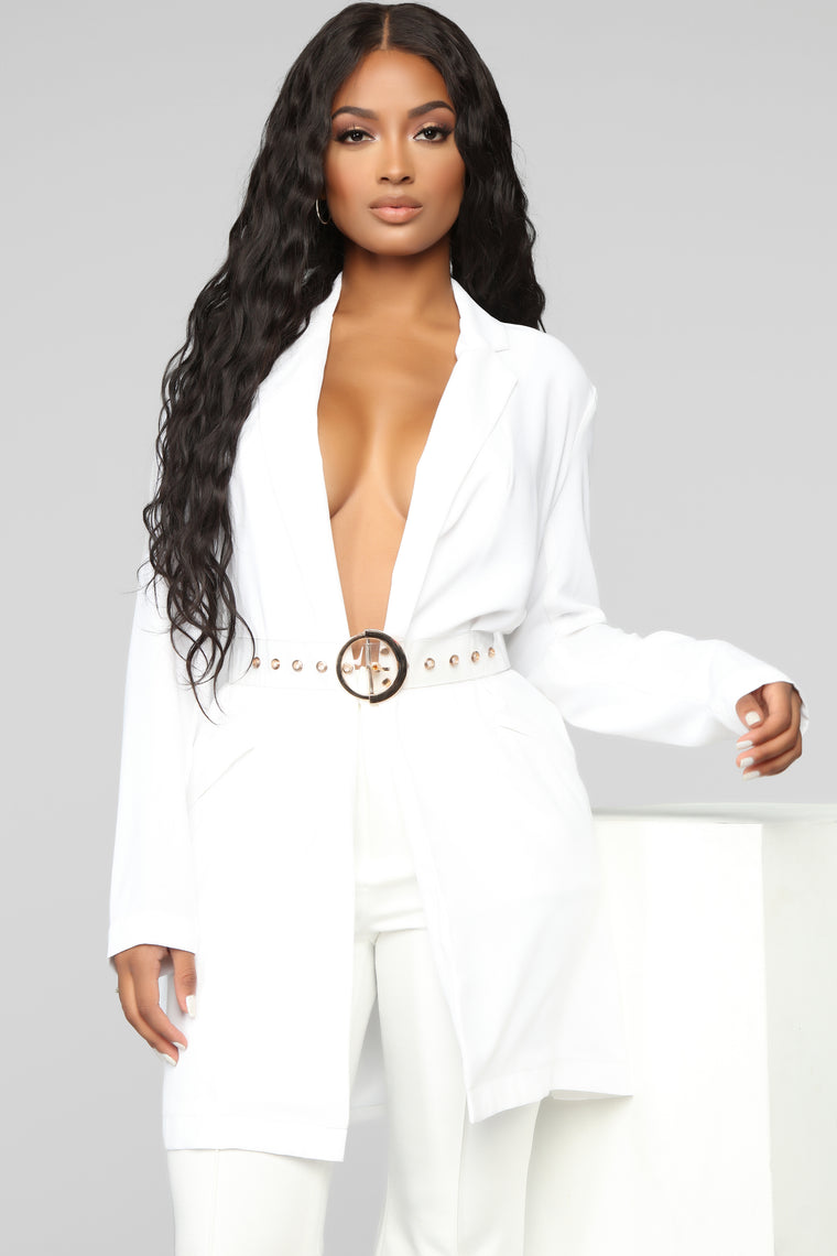 Can't Talk Right Now Belt   Clear by Fashion Nova