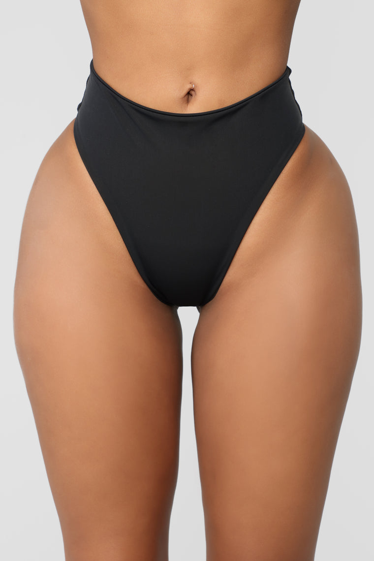 Ibiza Mix And Match High Rise Bikini Bottom - Black