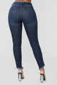 Pour It Up High Rise Jeans - Dark Denim