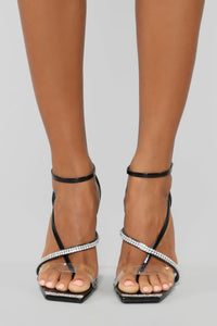 Worry About Yourself Heeled Sandal - Black