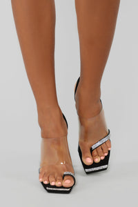 Touch Of Bling Heeled Sandal - Black Angle 1