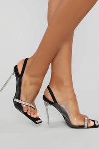 Touch Of Bling Heeled Sandal - Black Angle 3