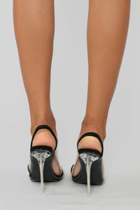 Touch Of Bling Heeled Sandal - Black Angle 4