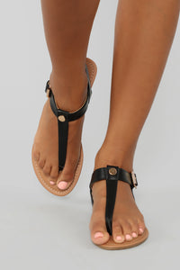 Always A Good Idea Flat Sandals - Black